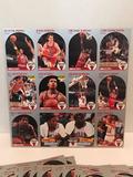 1990 Chicago Bulls Uncut Basketball Card Sheets 40 Units
