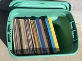 Bin of Vintage Records