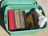 Box of Vintage Records, Christmas, Judy Garland