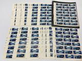 1975 U.S. 10 Cent Apollo Soyuz Stamp Sheets, Lot of 25