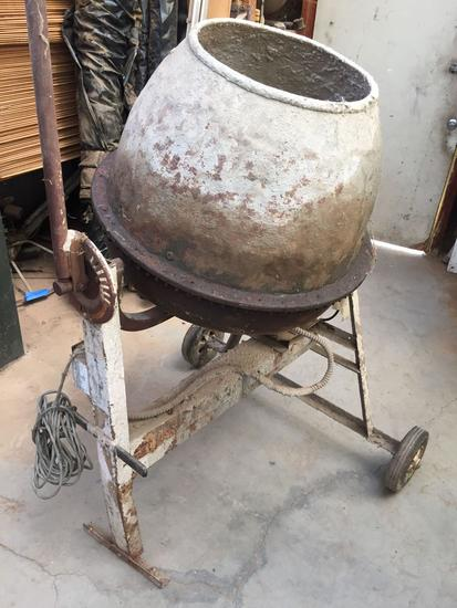 Cement Concrete Mixer, Baldor Motor Turns On