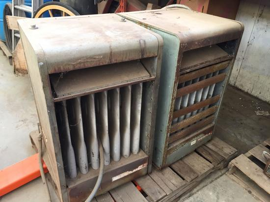 Pallet of 2 Modine Industrial Propane Heaters