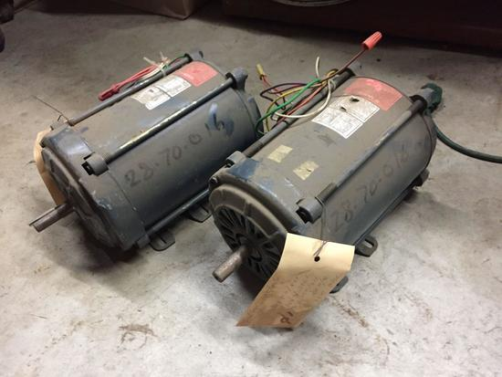 Lot of 2 GE Motors Model 5KC47PG1247EX