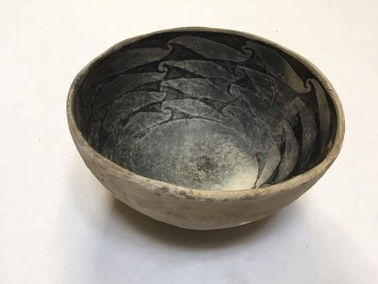 Clay Ceramic Native American Bowl, reported to be 1000 Years Old Anasazi Bowl