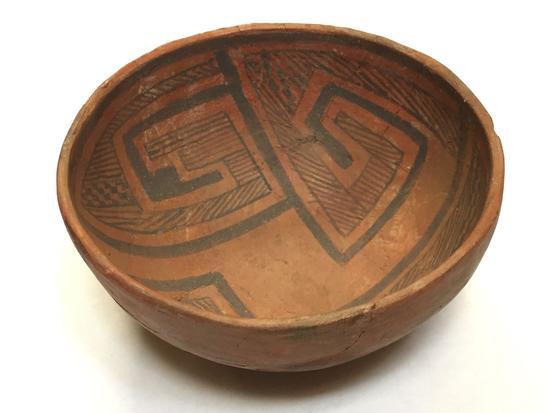 Clay Native American Bowl