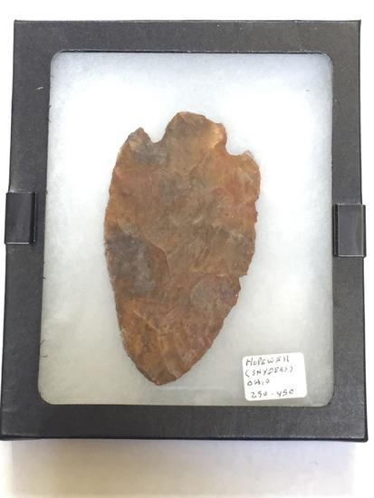 Indian Spear or Arrow Head, says Hopewell Snyders Ohio 250-450