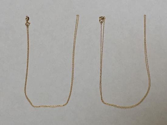 14K Gold Necklace Chains, Lot of 2