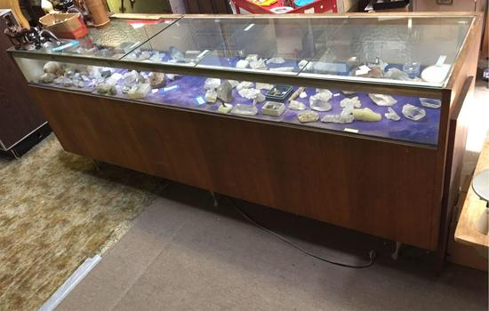 Display Cabinet, 8ft Wide, 22in Deep, 39in Tall