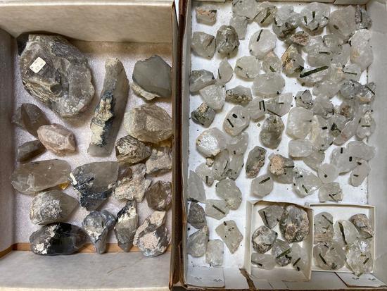 Lot of Crystals, Tourmaline, Quartz