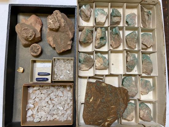Lot of Stones, Crystals, Petrified Wood, Lapis Lazuli, Quartz,