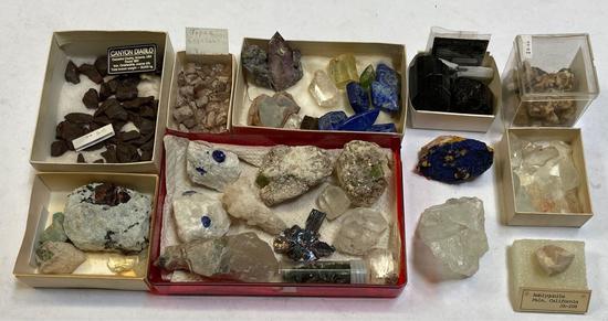 Lot of Meteorites, Crystals, Stones, Topaz, Tourmaline, etc