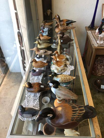 Wood and Ceramic Duck Collection