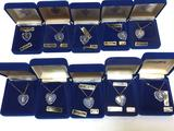 Lot of 10 Crystal Necklaces, says 14K Gold Filled Lettering