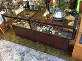 Rolling Display Cabinet, 6 1/2ft Wide, 22in Deep, 3 1/2ft Tall