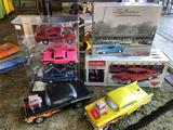 Lot of Toy Cars, Display Case, Classic Chevys