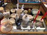 Shelf Contents, Ceramic Decorations