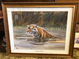 Don Balke Framed Bengal Tiger Portrait 32x26 inches
