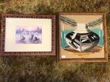 Framed Indian Pottery Wall Art 2 Units