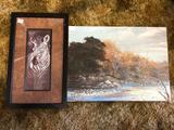 Nature Pictures, 1 Framed, Zebra & River