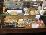 Shelving Contents, Lenox Wheat Pattern Tea Set, McDonalds Hot Wheels, more