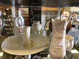 Shelf Contents, Belleek Ceramic Set, Old Mugs