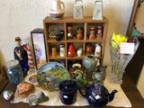 Lot of Salt & Pepper Shakers, Ceramics, Lenox Vase, and More