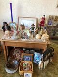 Lot of Indian Art, Decorations, Pottery, Ephemera