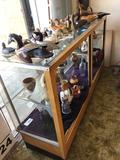 Heavy Wood & Glass Display Case, Contents Not included
