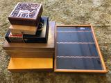 Lot of Wooden Boxes, Cigar Boxes, Small Display Box