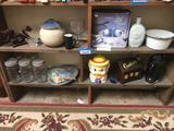4 Shelves Of Antiques