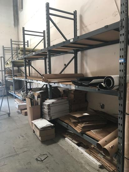 Entire Wall Of Pallet Racking With Contents
