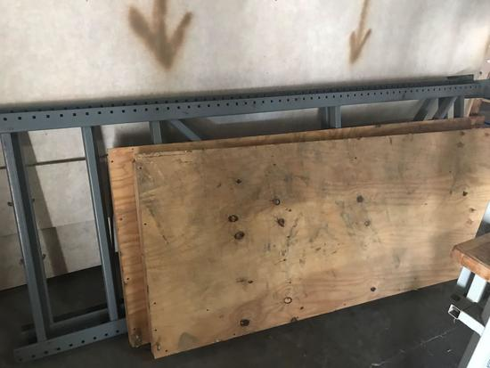 Pallet Racking Uprights Plywood Shelves 4 Units