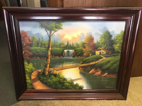 Framed Oil Painting Tree