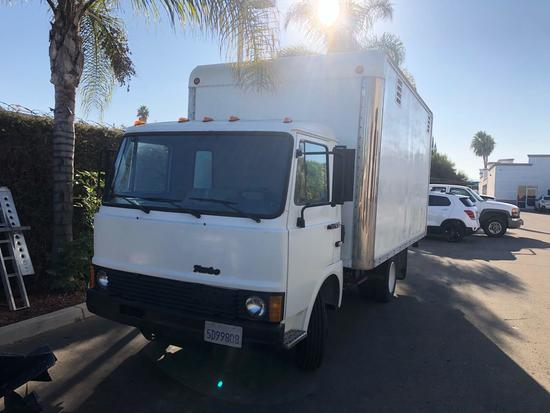 1986 Iveco Z 120 Turbo Diesel Boxtruck Runs Great Extra tank Lift Works New Tires 145598 Miles