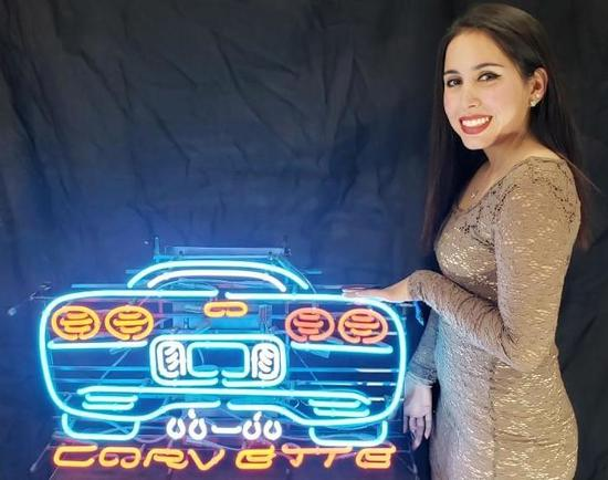 Chevrolet Corvette Neon Light Up Sign