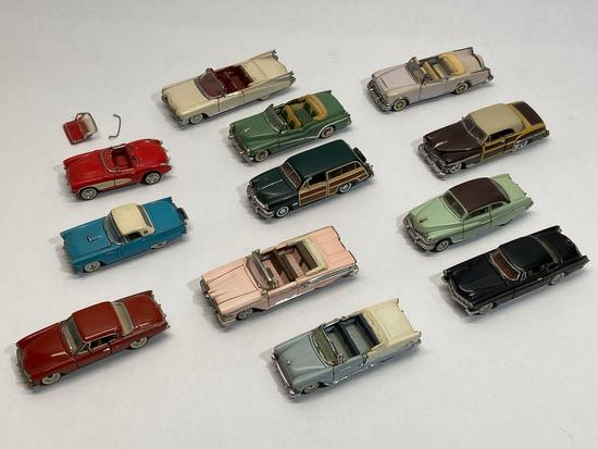 1987 Franklin Mint Precision Models Diecast Metal Toy Cars, set of 12