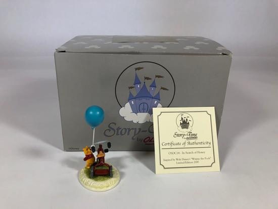 Winnie The Pooh In Search of Honey Limited Edition Sculpture w/ CoA 2001 Disney Showcase Collection