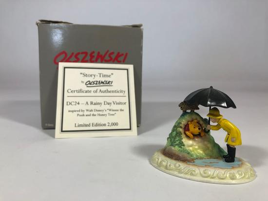 Winnie The Pooh A Rainy Day Visitor Limited Edition Sculpture DC24 w/ CoA 2001 Disney Showcase