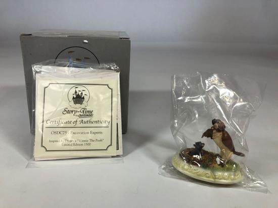 Winnie The Pooh Excavation Experts Limited Edition Sculpture DC75 w/ CoA Disney Showcase Collection