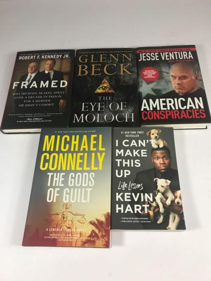 5 Books all Signed Kennedy Beck Ventura Hart Connelly