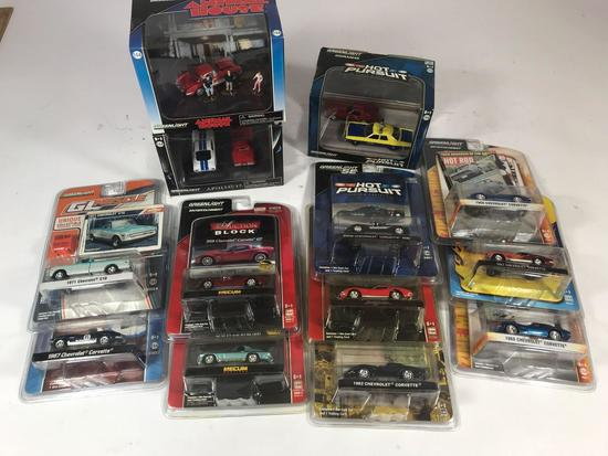 Greenlight Die Cast Toy Cars 13 Units
