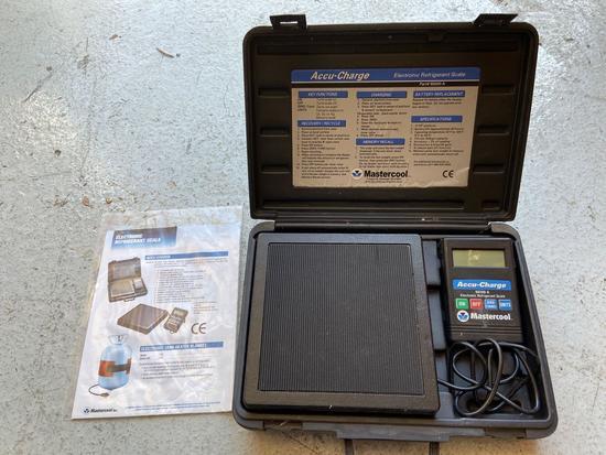 Mastercool Accu-Charge 98200-A Electronic Refrigerant Scale in Original Case