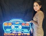 Chevrolet Corvette Neon Light Up Sign