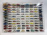 Toy Car Collection in Mirrored Display Case 32x24in