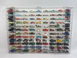 Toy Car Collection, Hotwheels, in Mirrored Display Case 32x24in