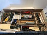 Large Box Full of Ho Scale Train Parts Accessories