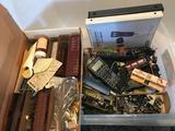 Bin Full of Ho Scale Train Cars Parts Accessories