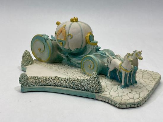 Cinderellas Coach, Disney Goebel 1990 Sculpture, Design 978-D, Signed by Olszewski
