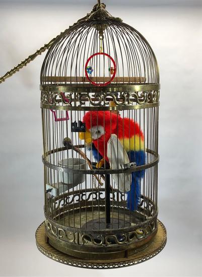 Hugh Hefner Playboy Mansion Brass Bird Cage