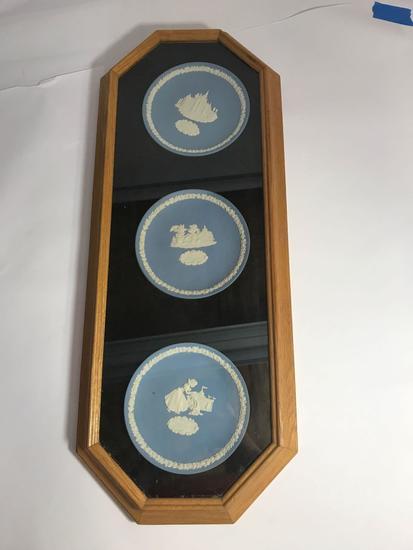Wedgwood Disneyland Collector Plates Framed